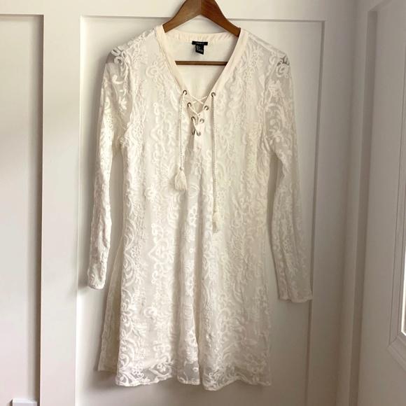 Forever 21 Dresses & Skirts - Forever 21 White Lace Dress, Large